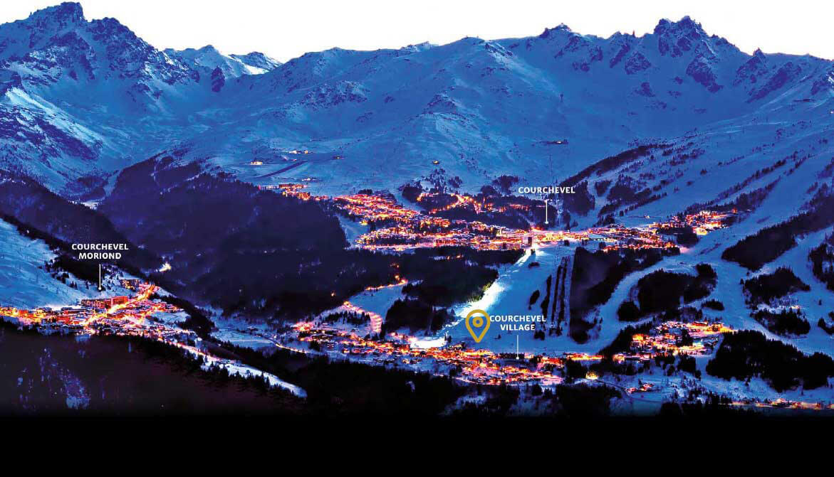Plan de Courchevel